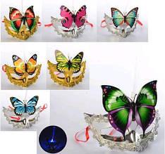 Аксессуары для праздника MK 2306 карнавальная маска свет микс вид бат(таб) в кул 17-14-7см( Ч )