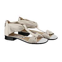 VM-Villomi Бежевые кожаные босоножки 37 размера на низком ходу
