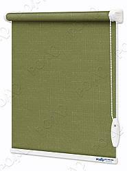 Рулонные шторы Лен Темно-зеленые