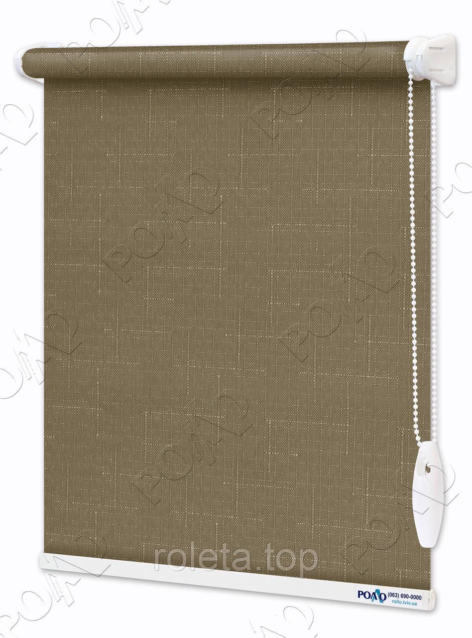 Рулонные шторы Лен Бледно-коричневые