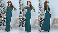 Сукня жіноча максі з креп-дайвінгу (6 кольорів) - Зелений ТК/-4018, фото 1