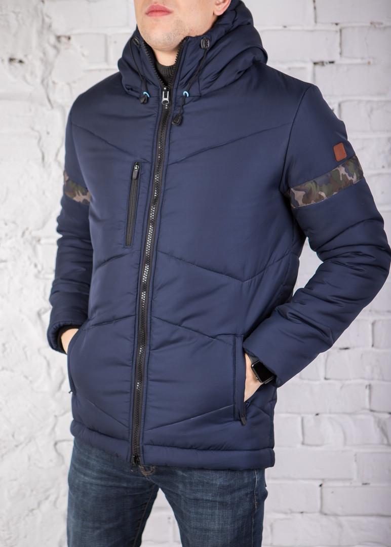 "Мужская зимняя куртка Pobedov Winter Jacket ""Vernyy put'"" Navy (Camo inset)"
