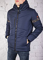 "Мужская зимняя куртка Pobedov Winter Jacket ""Vernyy put'"" Navy (Camo inset)"