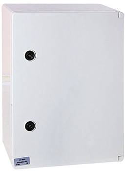 Шкаф ударопрочный из АБС-пластика e.plbox.250.330.130.1f.2m.blank, 250х330х130мм, IP65 с панелью под 1 - фазный счетчик и 2 модуля