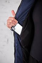 "Мужская зимняя куртка Pobedov Winter Jacket ""Vernyy put'"" Navy (Camo inset), фото 2"
