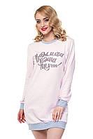 Ночная рубашка Ellen c длинным рукавом на баечке Размер S