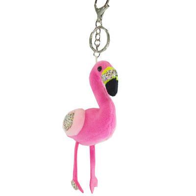 Брелок Фламинго со стразами