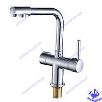 Смеситель для кухни одноручковый с выходом для питьевой воды  Hans Chr-021