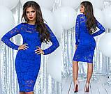 Облегающее модное  гипюровое платье , фото 5