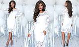 Облегающее модное  гипюровое платье , фото 9