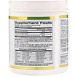 Коллаген морской+гиалуроновая кислота +витамин С, порошок, California Gold Nutrition, 205г, США, фото 2