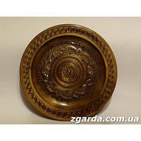 Резная  тарелка  с изображением цветка (35 см.)