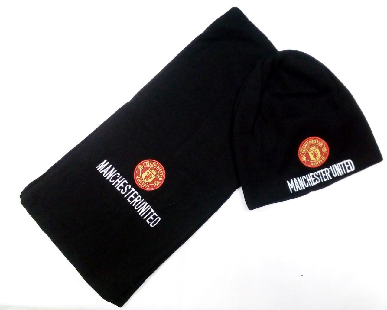 Комплект шапка и шарф ФК Манчестер Юнайтед