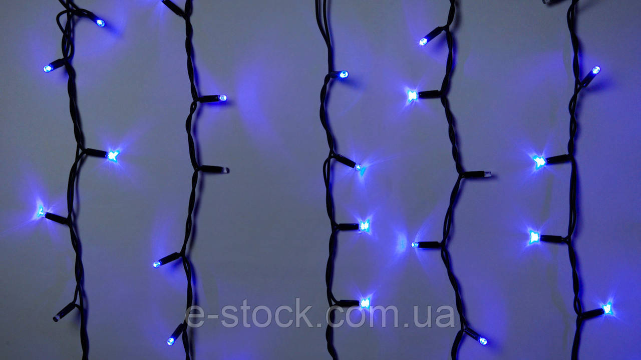 Гирлянда наружная бахрома Delux ICICLE 108 LED синий\черный