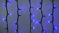 Гирлянда наружная бахрома Delux ICICLE 108 LED синий\черный, фото 1
