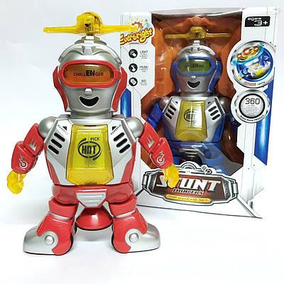 Робот с пропеллером танцор,свет, звук (красный)