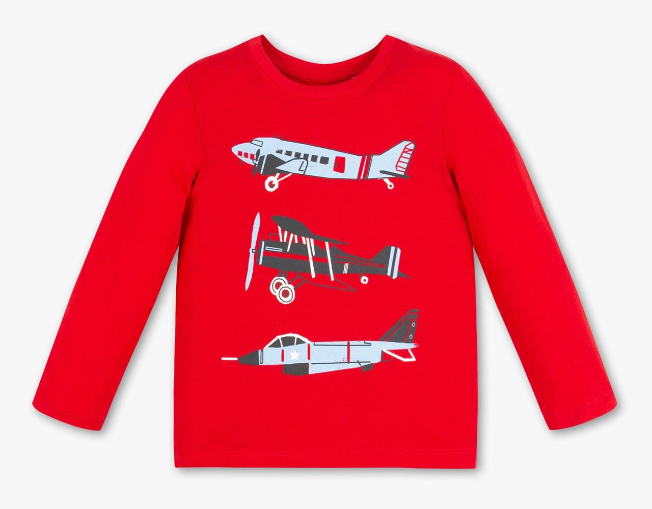 Красный реглан для мальчика с самолетами C&A Германия Размер 122