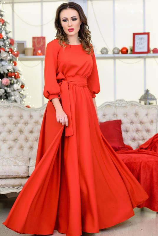 """Красное длинное платье  """"Ванесса"""""""