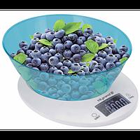 Ваги кухонні електронні 5 кг (с чашей) ViLgrand VKS-533С_blue