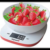 Ваги кухонні електронні 5 кг (с чашей) ViLgrand VKS-517_white