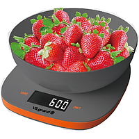 Ваги кухонні електронні 5 кг (с чашей) ViLgrand VKS-517_gray