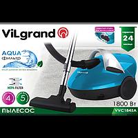 Пылесос 1800 Вт, аквафильтр ViLgrand VVC1845A_blue
