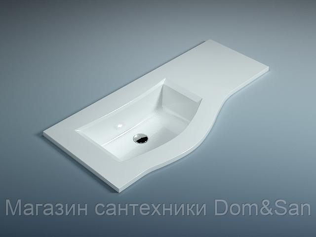 Мебельная раковина WGT Stone Wave 1010x482x135 мм