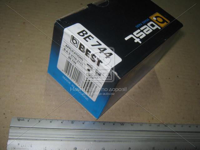 Колодки тормозные ВАЗ 2110, 2111, 2112 передние эл..сигнализатор (компл. 4шт.) (пр-во BEST)