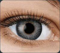 Цветные контактные линзы Fusion на 3 месяца, кольорові контактні лінзи, (2шт), OkVision Gray 2