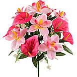 Букет искусственных орхидей и каллы, 40см, фото 2