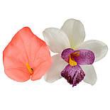 Букет искусственных орхидей и каллы, 40см, фото 3