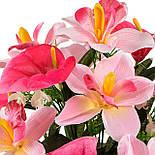 Букет искусственных орхидей и каллы, 40см, фото 4
