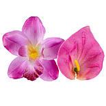 Букет искусственных орхидей и каллы, 40см, фото 5