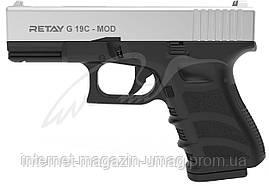 Пистолет стартовый Retay G 19C, 9 мм, 7-зарядный, хром