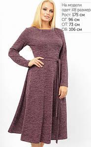 Женское трикотажное платье с люрексом больших размеров (3329 lp)