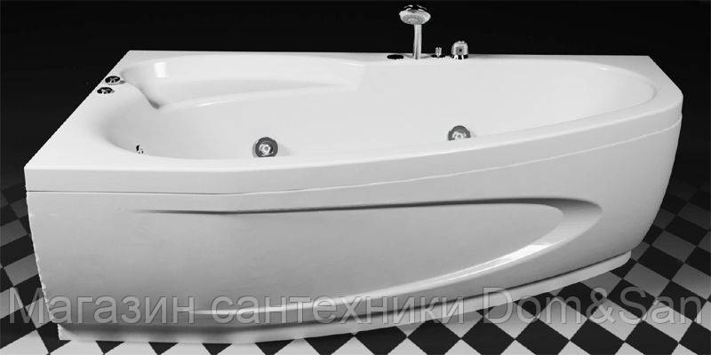 Гидромассажная ванна Rialto Como Hydro 1700х1000 со смесителем левая