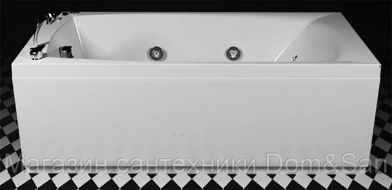 Прямоугольная гидромассажная ванна Lido Hydro 1700x755