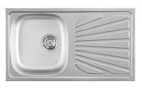 Кухонная мойка METALAC LUNA FLEX (063714) микродекор, фото 1