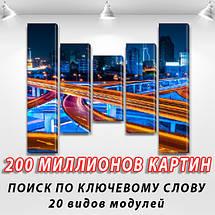 Картина модульная Кольцевая дорога  на ПВХ ткани, 90x110 см, (90x20-2/60х20-2/45x20), фото 2