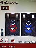 Активная акустика UF-7711-DT 200W (USB/Bluetooth/Пульт ДУ) Пара, фото 3