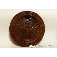 Резная  тарелка  с цветочным орнаментом (40 см.)