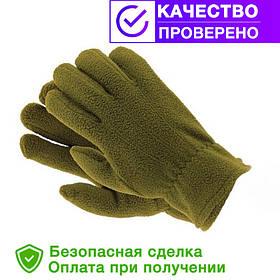 Флисовые перчатки зимние - польша (reis) олива