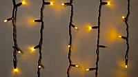 Гирлянда внешняя бахрома Delux ICICLE 75 LED желтый\черный, фото 1