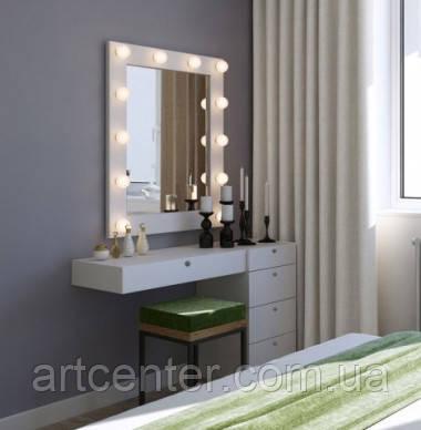 Туалетный стол с навесным зеркалом, гримерный стол