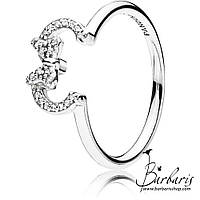 Серебряное кольцо Disney «Силуэт Минни» копия Pandora