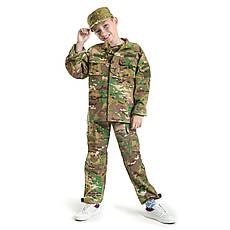 Детский военный костюм для мальчиков Киборг камуфляж Мультикам оригинал, фото 3