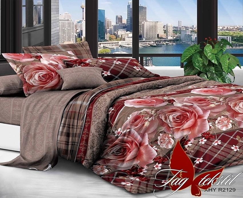 Комплект постельного белья XHY2129 евро (TAG polycotton evro-506)