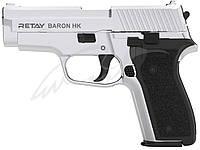Пистолет стартовый Retay Baron HK, 9 мм, никель