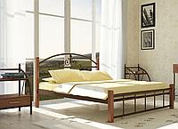 """Кровать металлическая на деревянных ногах """"Кассандра"""", фото 1"""