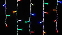 Гирлянда наружная бахрома Delux ICICLE 75 LED мульти\белый, фото 1